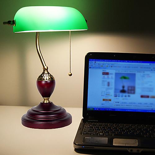 Континентальный комплексных классических ретро свет стол с подставкой Дерево Зеленый Абажур Lightinthebox 6445.000