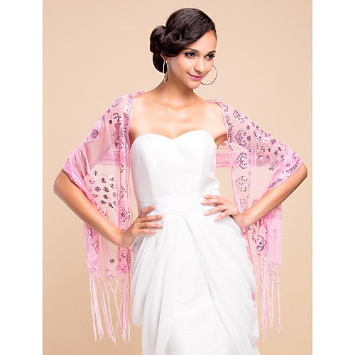 Шаль свадебная/вечерняя из вуали с пайетками(цвета в ассортименте) Lightinthebox 386.000