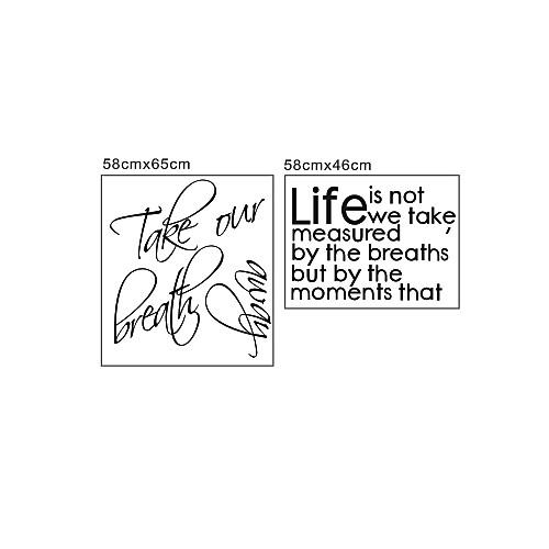 Декоративная наклейка на стену с высказыванием о жизни на английском языке Lightinthebox 1288.000
