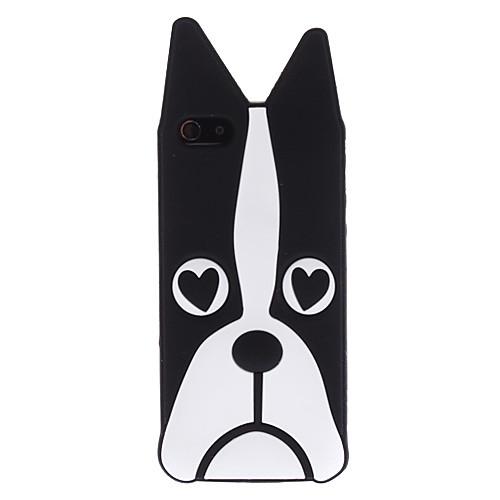 черная собака шаблон мягкий чехол для iphone 5/5s Lightinthebox 300.000