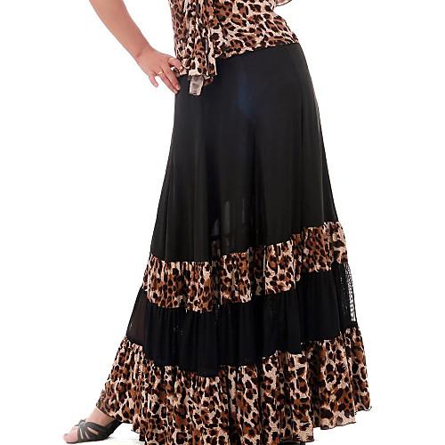 Танцевальная одежда вискоза леопарда печатных современного танца Юбки для дам