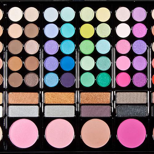 78 цвета 3in1 профессиональный 60 тени для век 12 помада 6 румяна макияж косметическим палитру с зеркалом и 2 губки аппликатора Lightinthebox 687.000