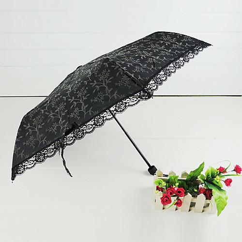 Черные цветы Узорчатое Gothic Lolita Umbrella Lightinthebox 858.000