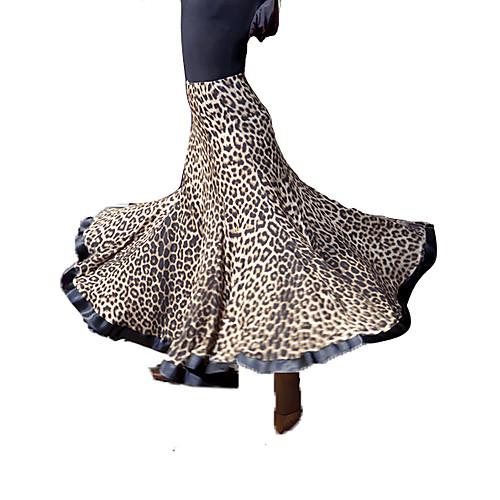 Юбка танцевальная из вискозы с леопардовым принтом Lightinthebox