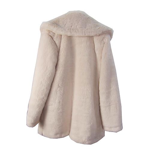 С длинным рукавом из искусственного меха Гуд Повседневный / Партия пальто (больше цветов) Lightinthebox 2075.000