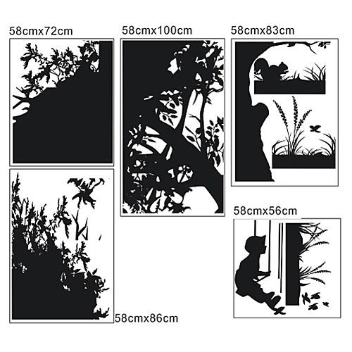 Дерево и Бабочка стикер стены Lightinthebox 1718.000