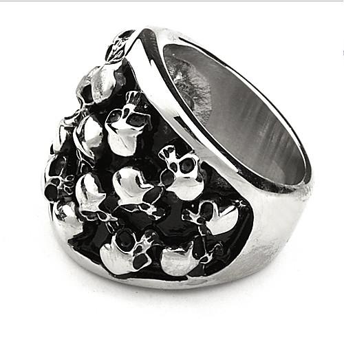 мужские титановые стали череп рисунок кольцо Lightinthebox 343.000
