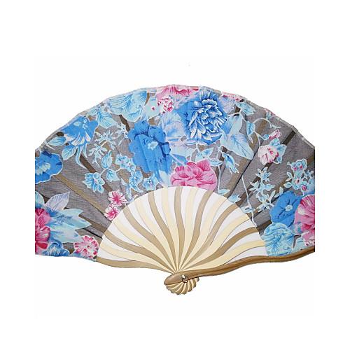 Красивой деревянной и вентилятор стороны шелка - комплект из 4 (смешанные цвета) Lightinthebox 506.000