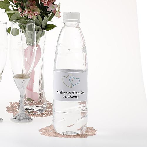 Персонализированные наклейки бутылки воды - Двойное сердце (Зеленый / Набор из 15) Lightinthebox 189.000