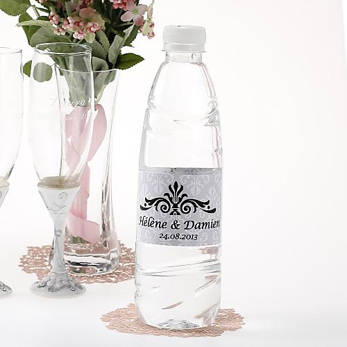 персонализированные наклейки бутылки с водой - царственный (серебро / набор 15) Lightinthebox 180.000