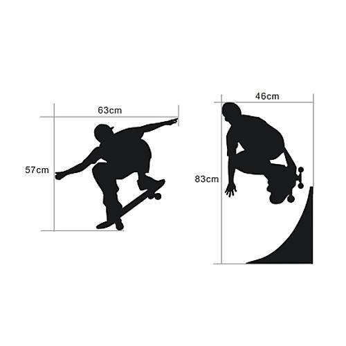 Скейтбордист Доске стикер стены Lightinthebox 1288.000