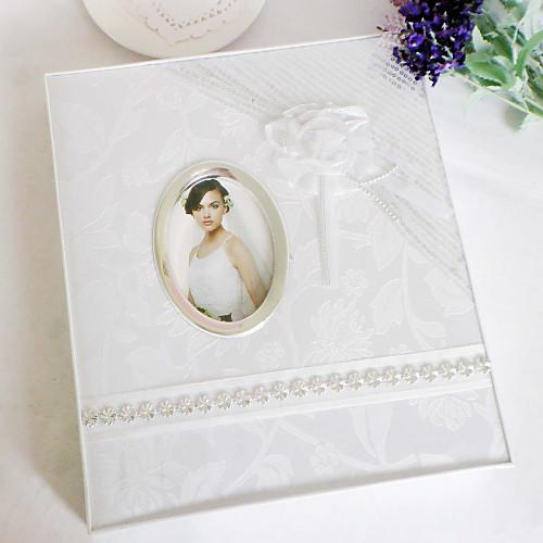 Элегантный белый фотоальбом свадьбы с Oganza Цветочный Lightinthebox 816.000