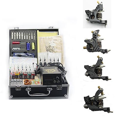 Набор из 4 чугунных тату-машинок для линий и заливки (40 цветов по 8 мл входят в комплект) Lightinthebox 4640.000