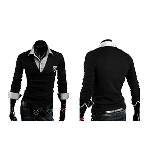 Тонкий мужской кардиган с вшитой рубашкой Lightinthebox 1116.000