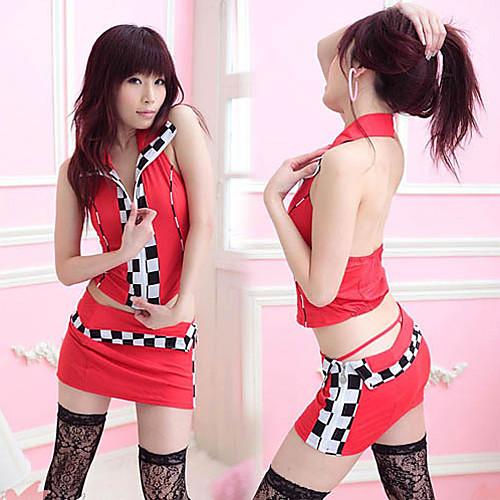 Гонки Девушка шаблон проверки полиэстер сексуальная форма (3 шт) Lightinthebox 858.000