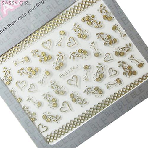 4ШТК 3d-металла Nail Art Наклейки животных Lightinthebox 171.000