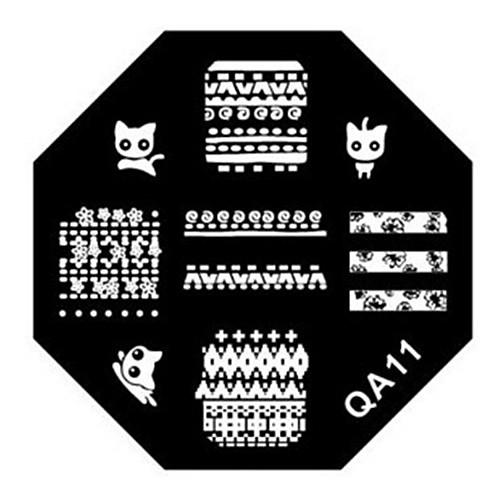 1PCS ногтей штамп штамповка изображения шаблона плиты M Series № 6 (разных цветов) Lightinthebox 85.000