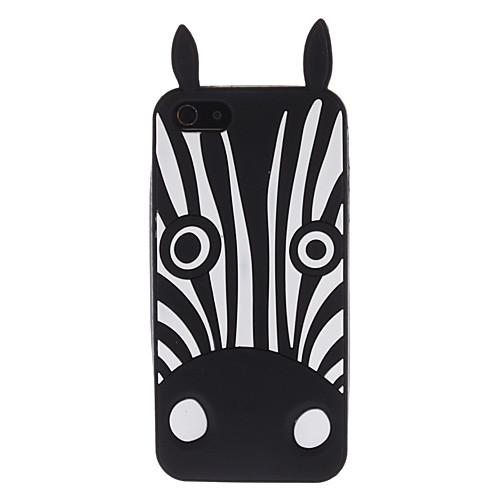 черная зебра мягкий чехол для iphone 5/5s Lightinthebox 300.000