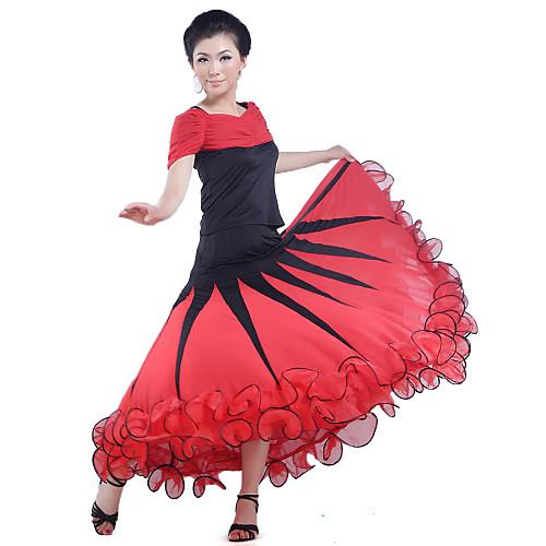 Современная танцевальная одежда вискоза танца юбка для женщин больше цветов