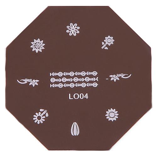 Ногтей штамп штамповка изображения шаблона плиты серии L-№ 1 № 5 (разных цветов) Lightinthebox 128.000