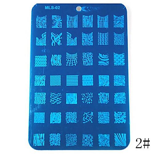 1шт синяя лента ногтей штамп штамповка изображения шаблона плиты Номер серии (разных цветов) Lightinthebox 257.000