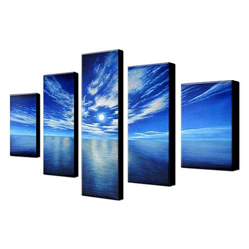 Картина, морской пейзаж, ручная роспись маслом, 5 полотен 1306-LS0318 Lightinthebox 5843.000