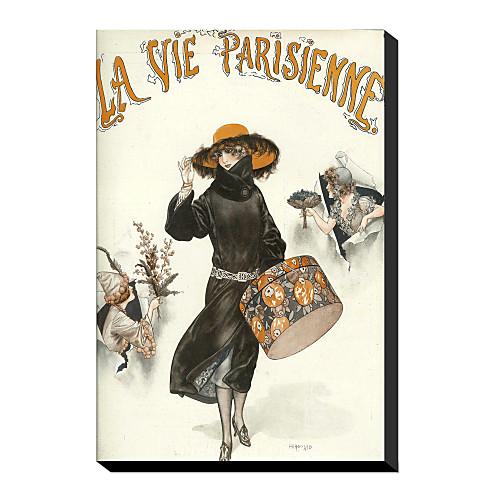 канва искусство старинных Лави Parisienne шляпной коробки винтажные коллекции яблоко с растянутыми кадра Lightinthebox 858.000