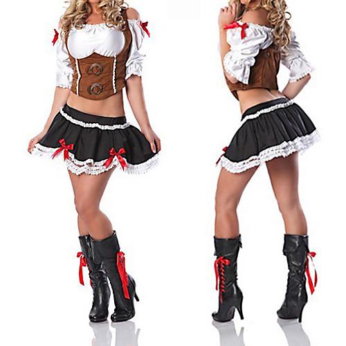 Принцесса Seires коричневый и черный полиэстер пиратский костюм принцессы (3 шт) Lightinthebox 1288.000