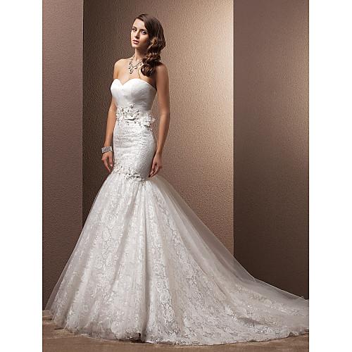 Высокое качество Sexy Русалка Китайский Свадебные платья суд поезд Hote про
