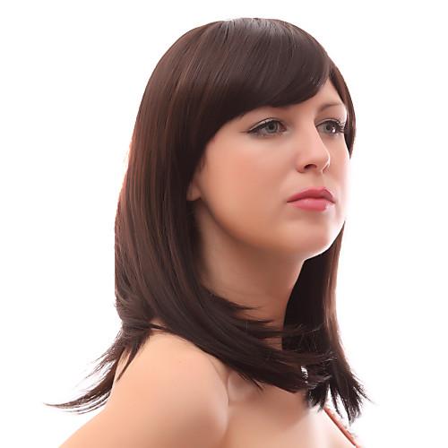 Монолитным 20% человеческих волос Средний прямой волосы парики Lightinthebox 1675.000