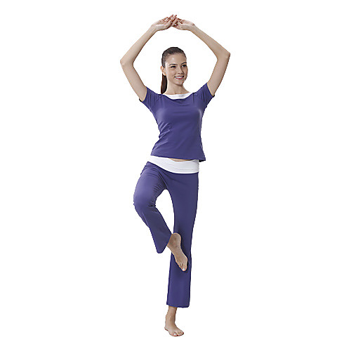 Хлопок Йога Повседневный костюм Спортивная одежда (синий) Lightinthebox 1202.000