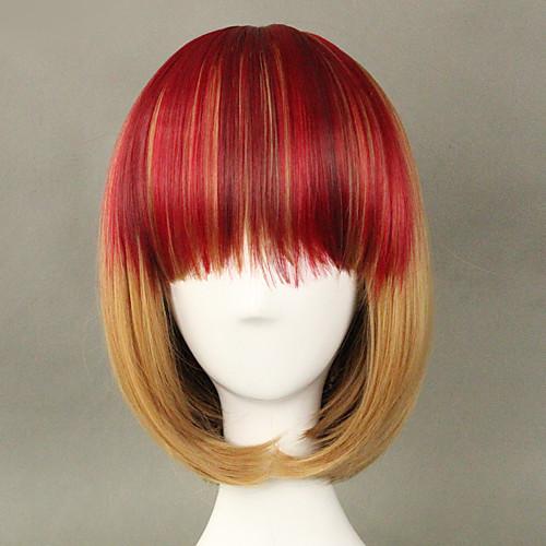 Красный взрыва льняное короткий боб 35см Панк Лолита парик Lightinthebox 1288.000
