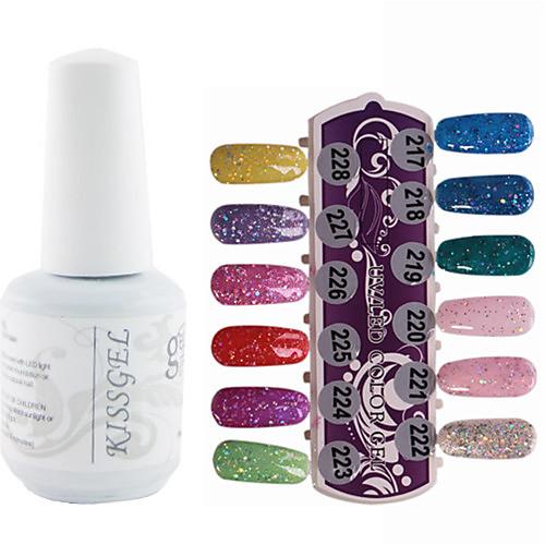 1PCS блестками УФ цветной гель лак для ногтей № 217-228 Soak-офф (15 мл, разных цветов) Lightinthebox 343.000