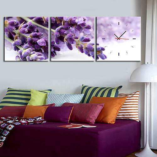 современный стиль фиолетовый часы стены в холст 3шт Lightinthebox 2148.000
