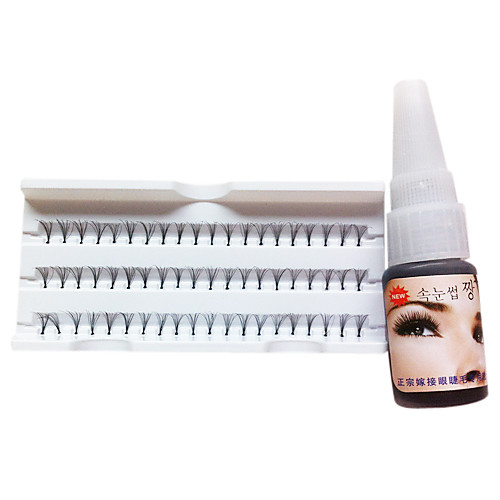 Индивидуальные Черный Curl Накладные ресницы с клеем Расширение (8 мм) Lightinthebox 429.000