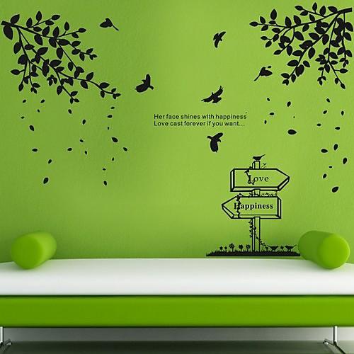 птицы и деревья весной наклейки стены (1985-p27) Lightinthebox 1073.000