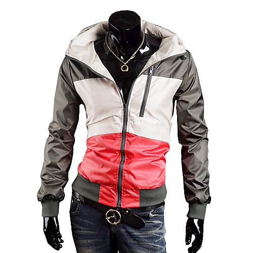 Мужская Водонепроницаемые Color Matching Пальто с обручем (зеленый) Lightinthebox 1288.000