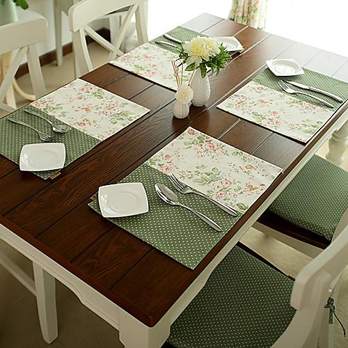 Набор из четырех салфеток для стола из хлопковой ткани Lightinthebox 816.000
