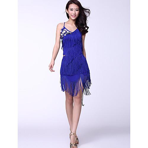 Платье с бахромой для латинских танцев (разные цвета) Lightinthebox 1073.000