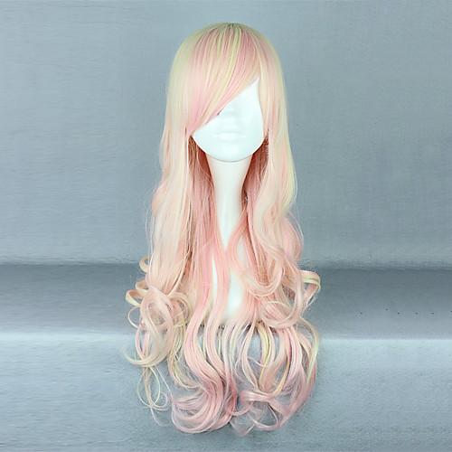 Клубничное мороженое розовый градиент 70см Sweet Lolita Парик Lightinthebox 1288.000