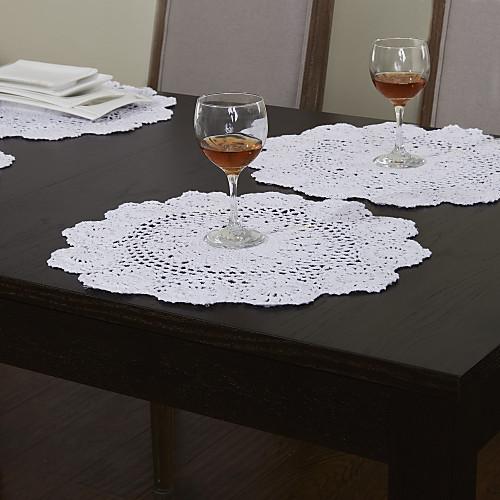 Набор из четырех кружевных салфеток с винтажным дизайном Lightinthebox 687.000