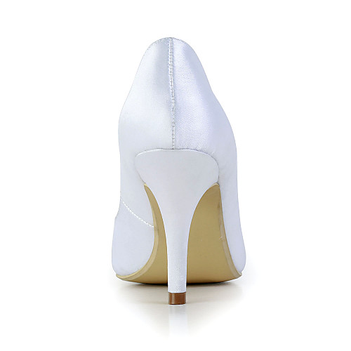 Великая атласная стилет каблук Pointy Toe Насосы Свадьба / особых поводов обувь (больше цветов) Lightinthebox 2577.000
