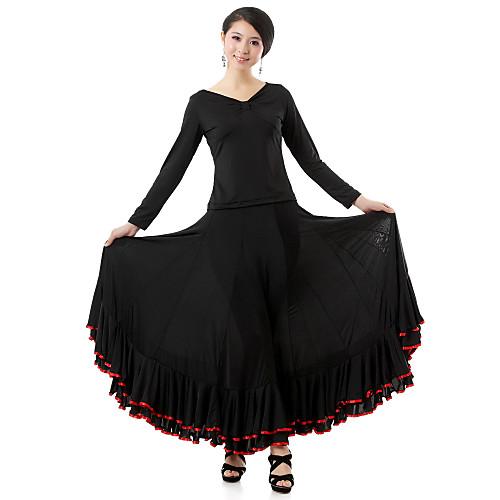 Бального танцевальная одежда вискоза Современные техники танца Топ и юбка для дам