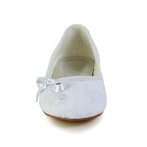 Милые кружевные плоский каблук закрытыми пальцами Квартиры с бантом Цветочная обувь для девочек (другие цвета) Lightinthebox 1288.000