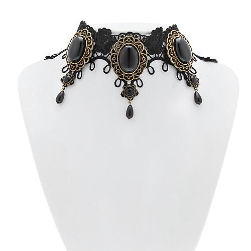 Черное кружево ручной викторианской Классическая Лолита колье колье Lightinthebox 644.000