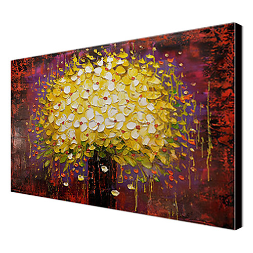 ручной росписью маслом ботанических Цветущее дерево дерево с растянутыми Frame 1307-bo0155 Lightinthebox 2577.000
