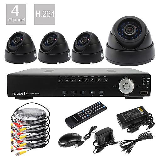 Система наблюдения Ultra 4CH D1 Real Time H.264 600TVL High Definition  (4 CMOS камеры ночного видения) Lightinthebox 4726.000