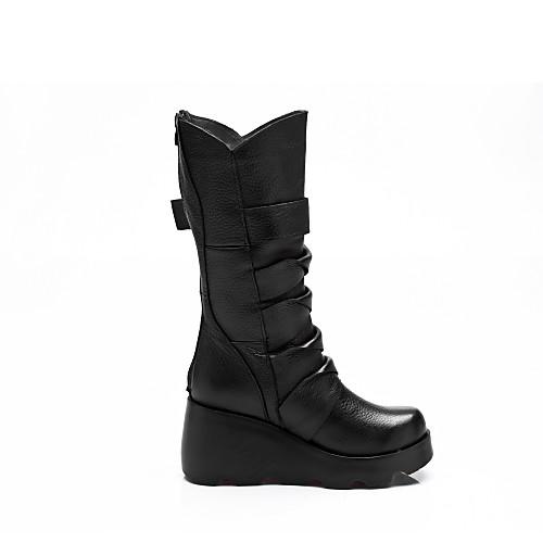 женская обувь платформы клин пятки середины икры сапоги с пряжкой Lightinthebox 3007.000