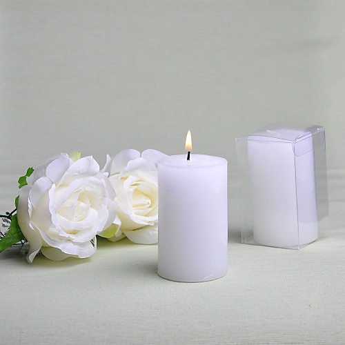 Простые круглые белые свечи пользу (набор из 6) Lightinthebox 376.000