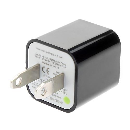 USB зарядное устройство адаптер для мобильных телефонов (разные цвета, США Plug, 5V 1A) Lightinthebox 84.000